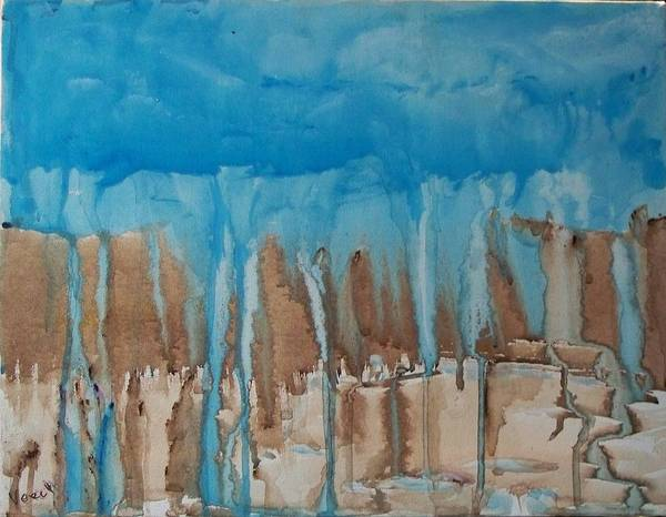 Abstract Poster featuring the painting Desert Storm by Larry Verch