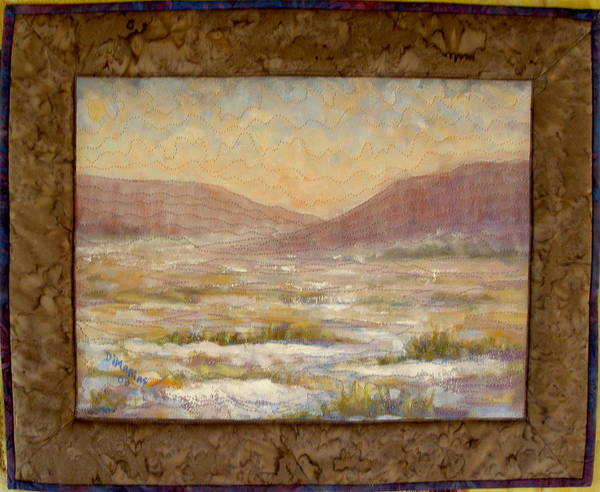 Realism Poster featuring the mixed media Desert Winter by Diane and Donelli DiMaria
