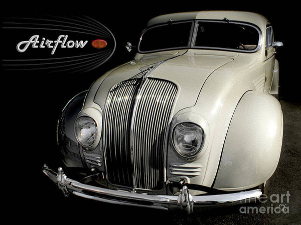Desoto Poster featuring the photograph Desoto Airflow by Curt Johnson