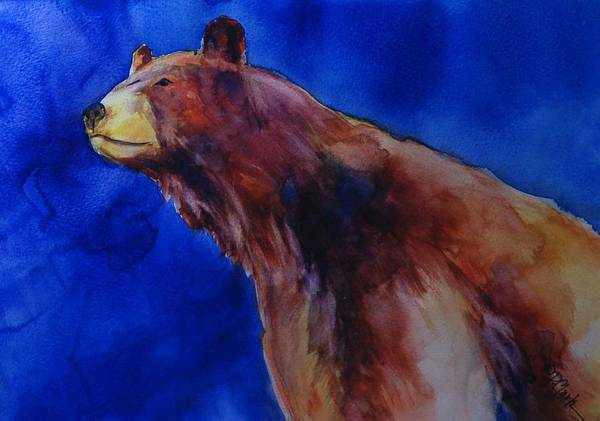 Watercolor Poster featuring the painting Determination by Donna Pierce-Clark