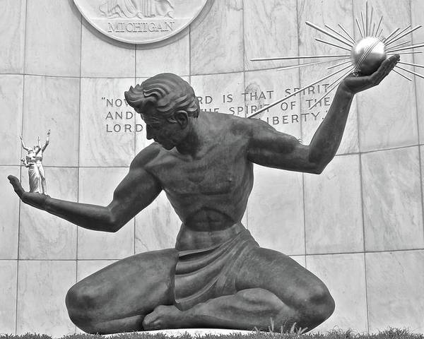 Detroit Michigan Statue by Frozen in Time Fine Art Photography
