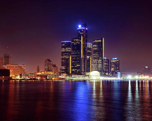 Detroit Poster featuring the photograph Detroit Skyline 4 by Gordon Dean II