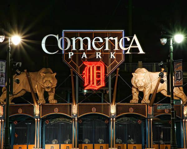 Detroit Poster featuring the photograph Detroit Tigers - Comerica Park by Gordon Dean II
