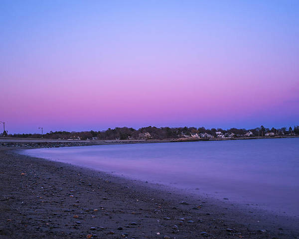 Marblehead Poster featuring the photograph Devereaux Beach Marblehead Ma At Dusk by Toby McGuire