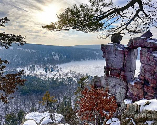 Wisconsin Dells Poster featuring the photograph Devil's Doorway by Bryan Benson