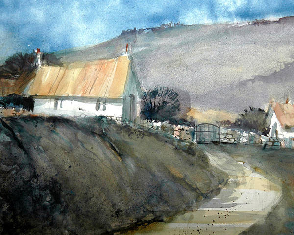 Devon Poster featuring the painting Devonshire Farm by Charles Rowland