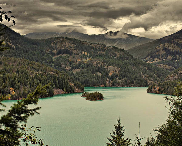 Turquoise Poster featuring the photograph Diablo Lake - Le Grand Seigneur Of North Cascades National Park Wa Usa by Christine Till