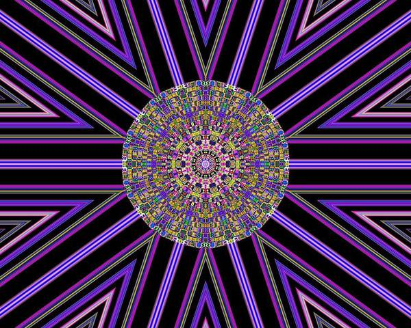 Abstract Digital Art Poster featuring the photograph Digital Night by Guillermo Mason