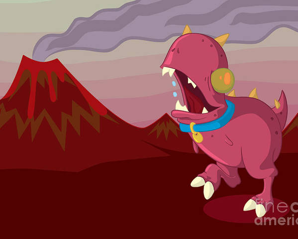 Illustrator Poster featuring the digital art Dino by Kyle Harper