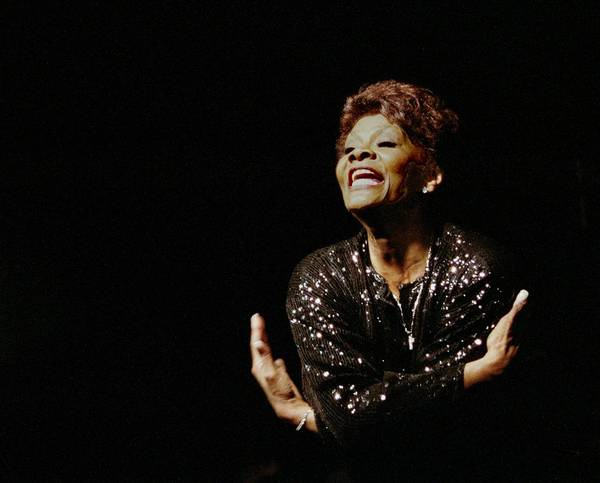 Dionne Warwick Poster featuring the photograph Dionne Warwick by Bob Guthridge