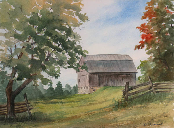 Barn Poster featuring the painting Disappearing Heritage by Debbie Homewood