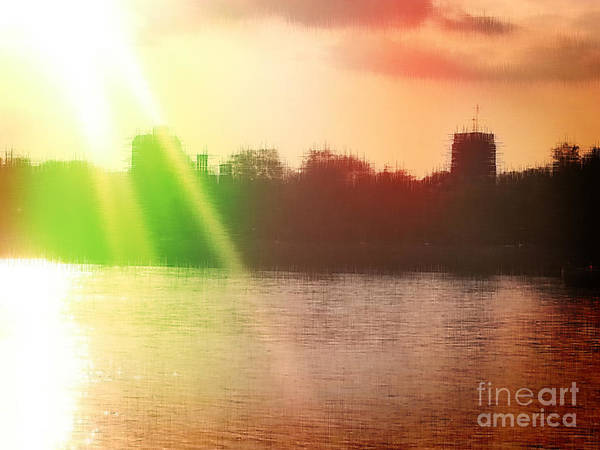 Sunset Poster featuring the photograph Distorted Sunset by Samantha Joseph