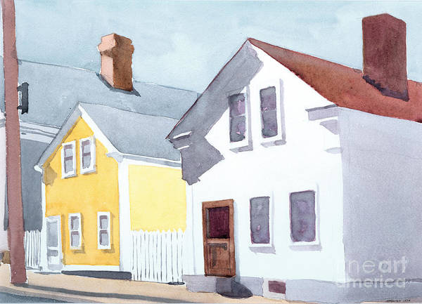 Coastal New England Poster featuring the painting Diving Street by Ian Newbury