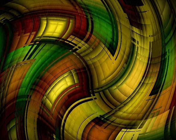 Dizzy Poster featuring the digital art Dizzy Plaid by Terry Mulligan