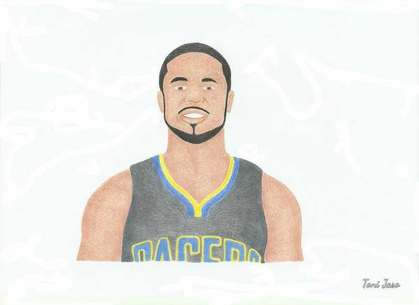 Dj Augustin Poster featuring the drawing Dj Augustin by Toni Jaso