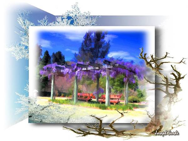 Wisteria Poster featuring the photograph Do-00013 Wisteria Branches by Digital Oil