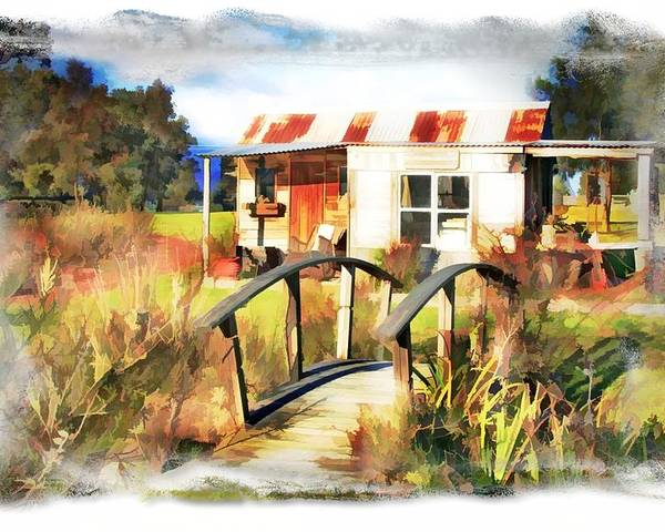 Cottage Poster featuring the photograph Do-00035 Cottage by Digital Oil