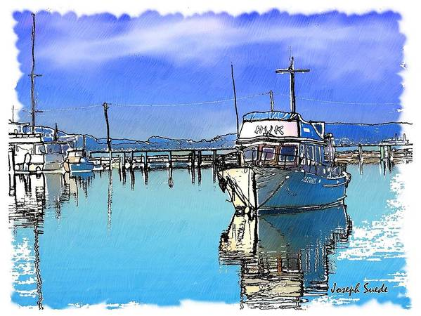 Boat Poster featuring the photograph Do-00231 Hvk Boat Gosford by Digital Oil