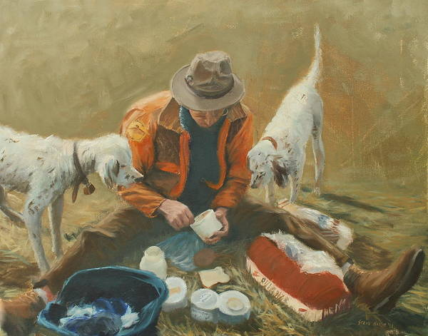 Quail Poster featuring the painting Doc by Steve Haigh