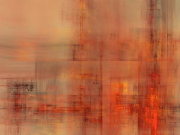 Fractal Poster featuring the digital art Docklands Sunset by Ian Duncan Anderson