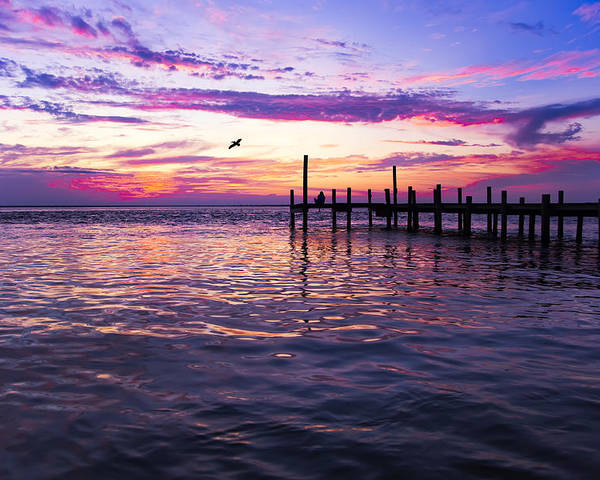 Dock Poster featuring the photograph Dockside Sunset by Janet Fikar