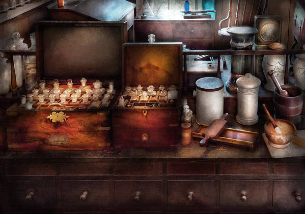 Hdr Poster featuring the photograph Doctor - Doctor In A Box by Mike Savad