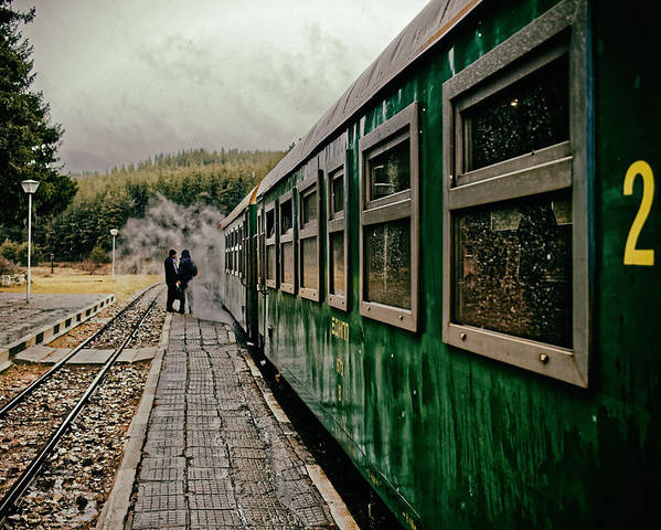Train Poster featuring the photograph Dolene Railway Station Bulgaria by Adam Rainoff