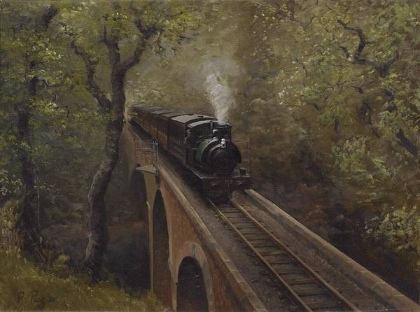 Steam Poster featuring the painting Dolgoch Viaduct by Richard Picton