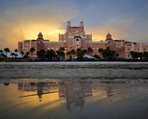 Don Cesar Hotel Poster featuring the photograph Don Cesar Reflection by David Lee Thompson