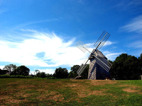 Windmill Poster featuring the photograph Don Quiotes Dragon by Bruce Gannon