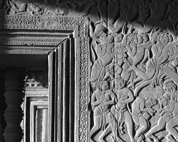 Angkor Wat Poster featuring the photograph Door Frame by Marcus Best