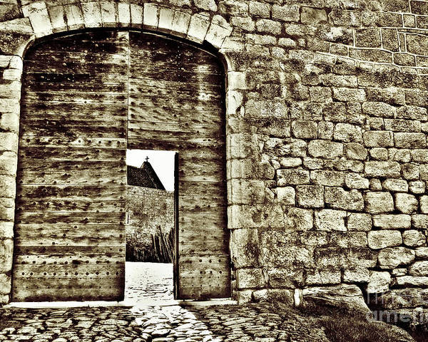 Castle Poster featuring the photograph Door To Salvation by Paul Topp