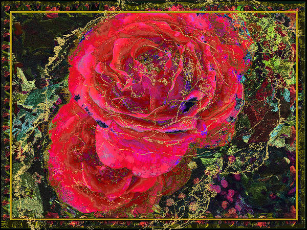 Roses Poster featuring the painting Dornroeschen by Anne Weirich