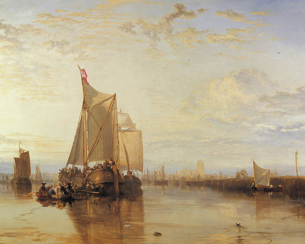 19th Century Art Poster featuring the painting Dort Or Dordrecht The Dort Packet Boat From Rotterdam Becalmed by Joseph Mallord William Turner