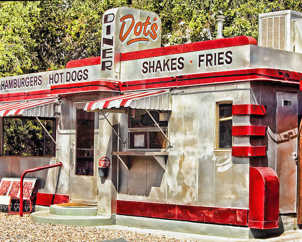 Bisbee Poster featuring the photograph Dots Diner Bisbee Az by Lynn Andrews