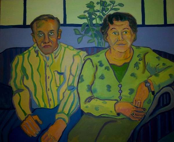 Older Couple Poster featuring the painting Dottie And Jerry by Debra Bretton Robinson