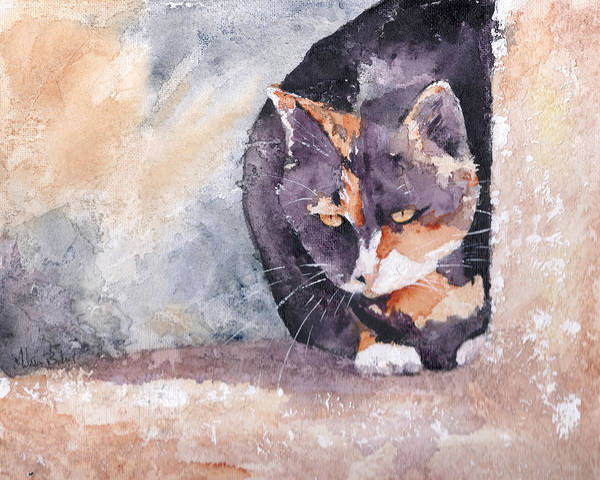 Cat Poster featuring the painting Dottie by Melissa Barbee