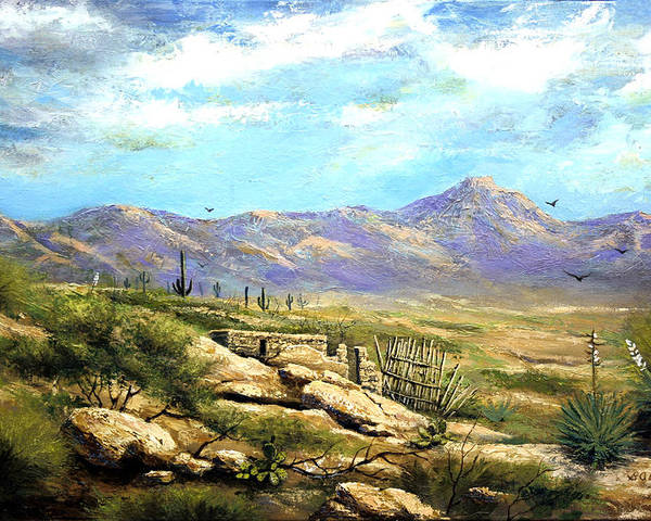 Landscape Poster featuring the painting Down Sedona Way by Brooke Lyman