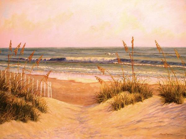 Poster featuring the painting Down To The Sea by Elaine Bigelow