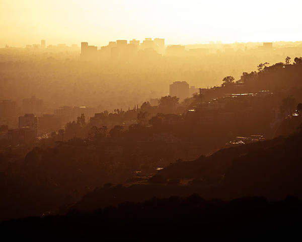 Hollywood Poster featuring the photograph Downtown La by Doug Woodward
