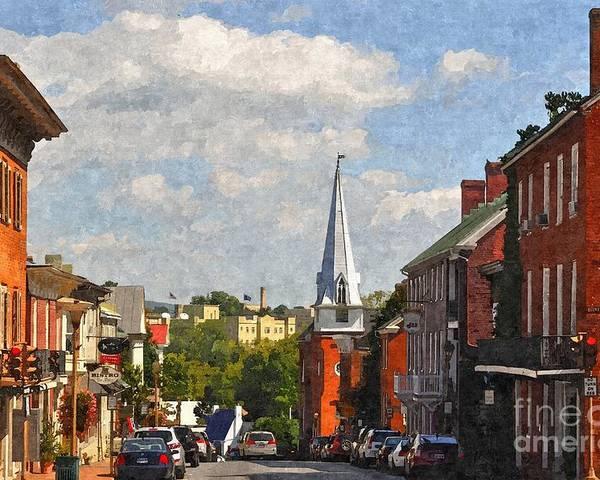 Lexington Poster featuring the photograph Downtown Lexington 3 by Kathy Jennings
