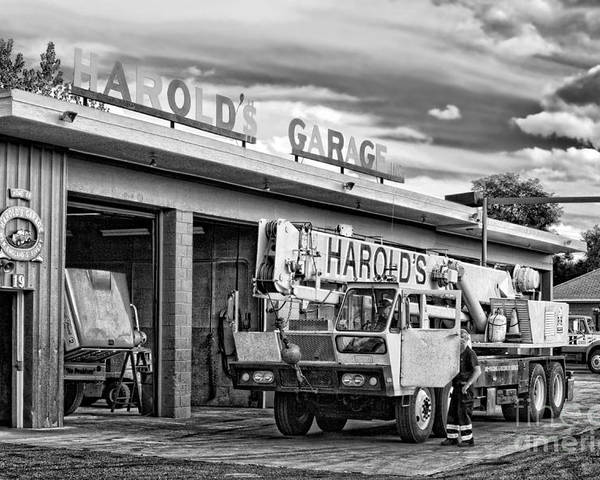 Northampton Poster featuring the photograph Downtown Northampton - Harold's Garage by HD Connelly