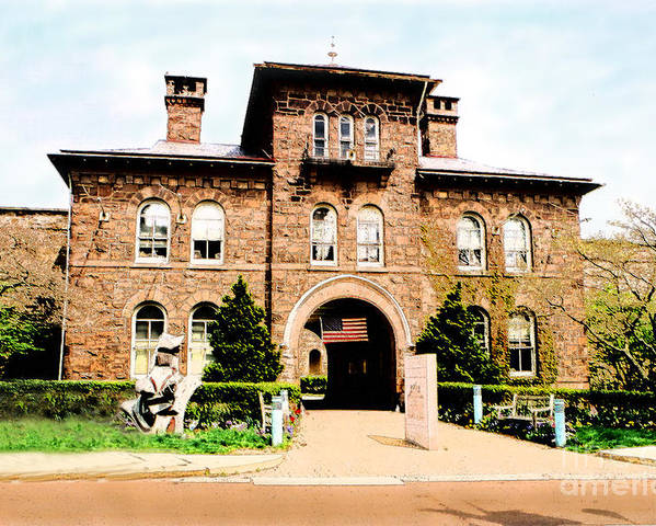 Photography Poster featuring the photograph Doylestown-michener Museum by Addie Hocynec