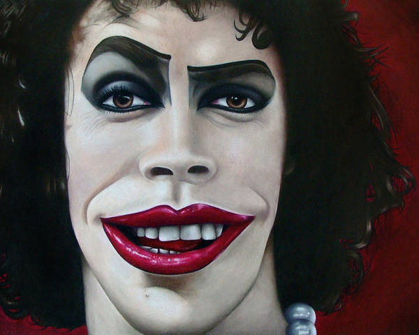 Rocky Poster featuring the drawing Dr. Frank-n-furter by Kalie Hoodhood