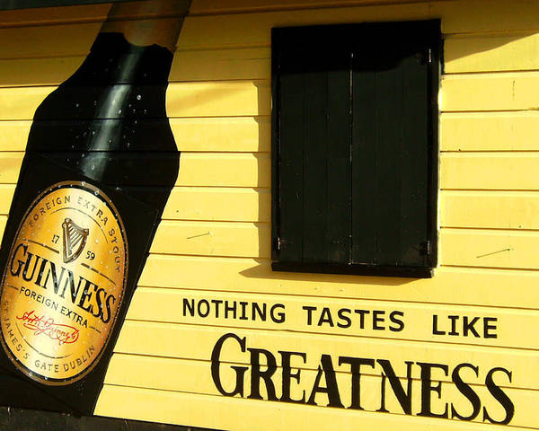 Guinness Poster featuring the photograph Drake's Bar by Barbara Marcus