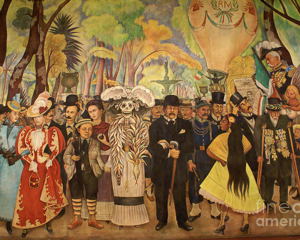Mexico City Poster featuring the photograph Dream In The Alameda Diego Rivera Mexico City by John Mitchell
