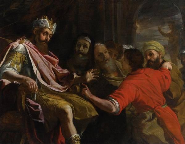 Mattia Preti Daniel Interpreting Nebuchadnezzar's Dream Poster featuring the painting Dream by Mattia Preti