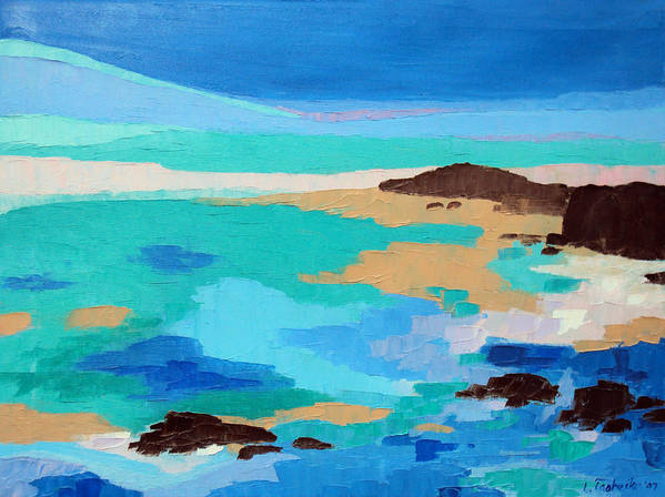 Maine Poster featuring the painting Dream Scape 14 by Laura Tasheiko