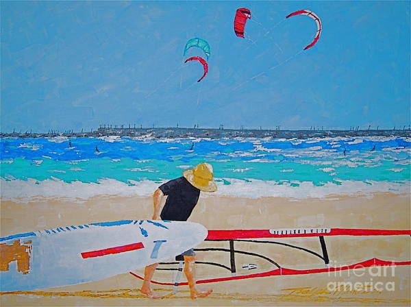 Beach Art Poster featuring the painting Dreamer Disease V Ponce Inlet by Art Mantia
