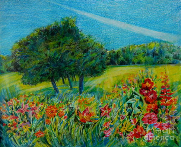 Dreaming About Summer Poster featuring the drawing Dreaming About Summer by Anna Duyunova